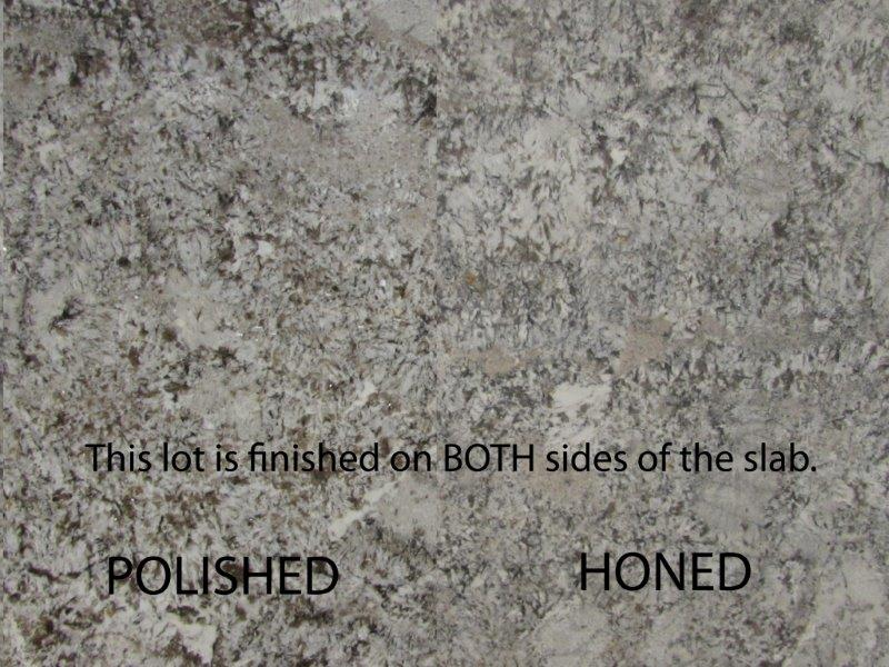 Absolute black granite honed vs. polished